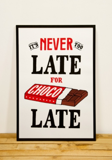 never late for chocolate